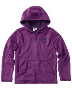 Carhartt Girls' Plum Caspia Fleece Sherpa Lined Jacket, Grape, hi-res