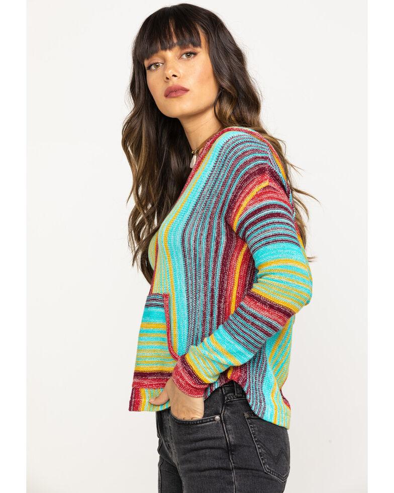 Rock & Roll Cowgirl Women's Vertical Stripe Hoodie, Multi, hi-res