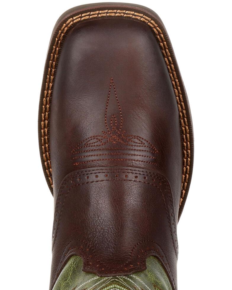 Durango Men's Ultralite Faux Elephant Western Saddle Boots - Square Toe, Chocolate, hi-res