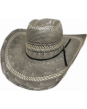 Bullhide Men's The Guru 100X Shantung Panama Straw Cowboy Hat , Black, hi-res