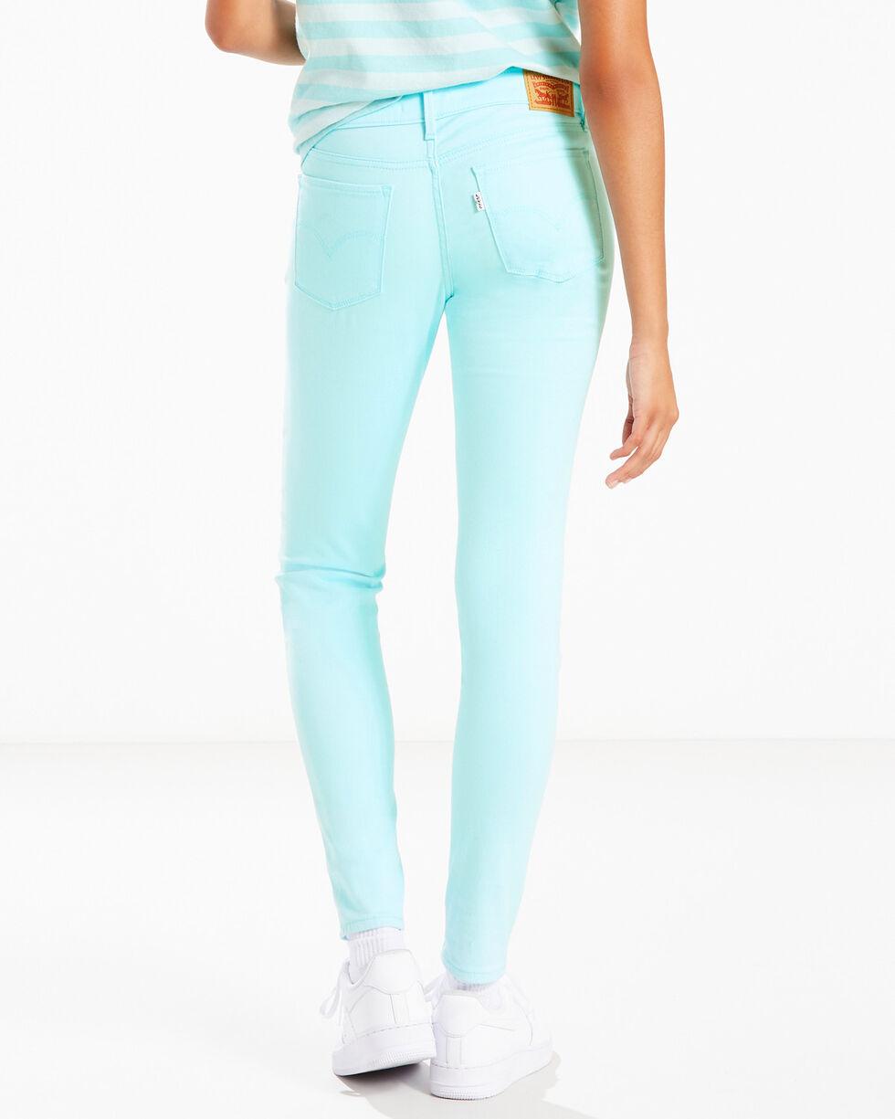Levi's Women's Aqua 710 Skinny Jeans , Aqua, hi-res