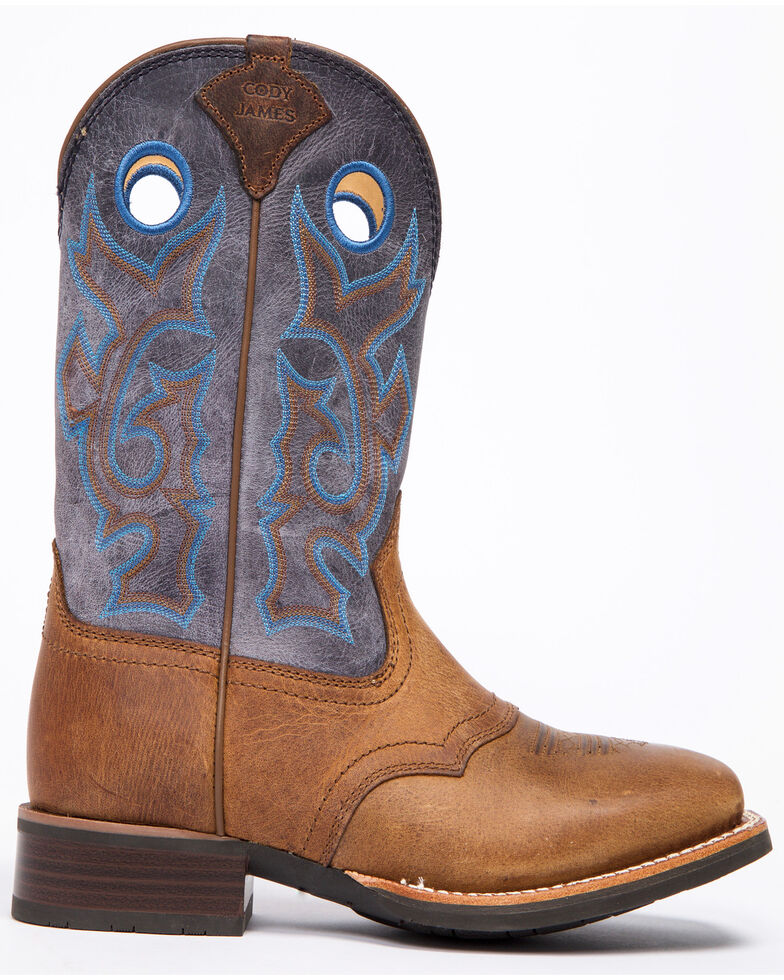 Cody James Men's Xero Gravity Saddle Western Boots - Wide Square Toe, Brown, hi-res