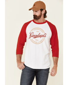 Brew City Beer Gear Men's Leines Brand Mark Graphic Raglan Long Sleeve T-Shirt , Multi, hi-res