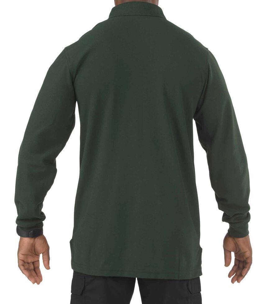 5.11 Tactical Utility Long Sleeve Polo Shirt - 3XL, Green, hi-res