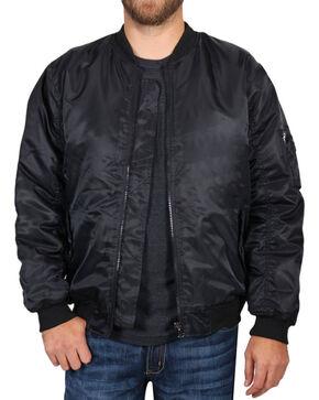 American Worker Men's Nylon Bomber Jacket , Navy, hi-res