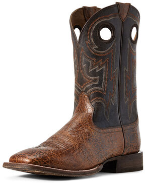 Ariat Women's Circuit Pro Western Boots - Wide Square Toe, Brown, hi-res