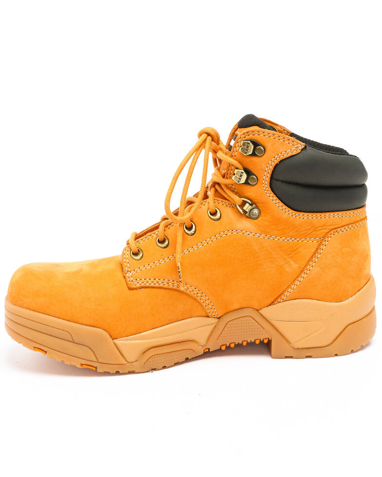 Hawx Men's Wheat Enforcer Lace-Up Work Boots - Round Toe, Wheat, hi-res