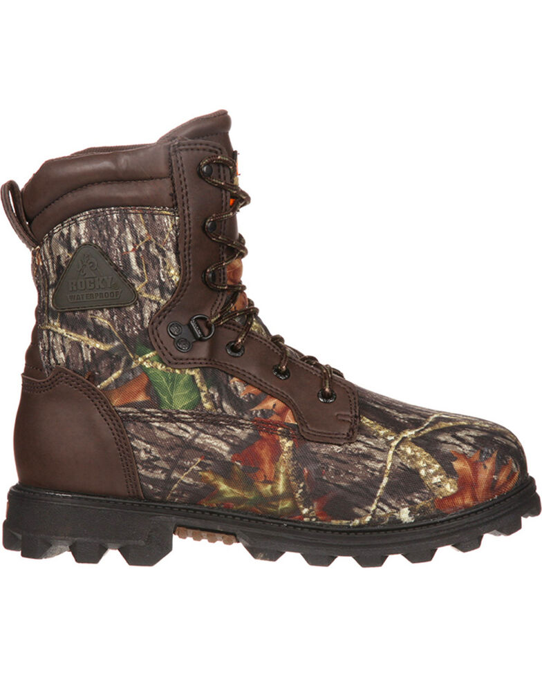 """Rocky Youth Boys' Camo Bearclaw 8"""" Waterproof Boots - Round Toe , Camouflage, hi-res"""