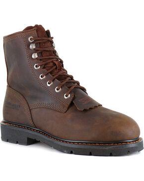 """Cody James Men's 8"""" Lace Up Kiltie - Composite Toe, Brown, hi-res"""