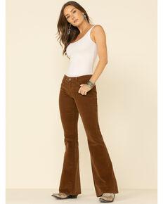 Ariat Women's Dijon Corduroy Flare Pants , Mustard, hi-res
