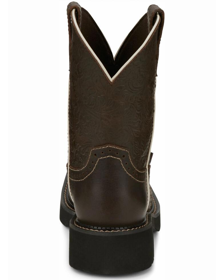 Justin Women's Mandra Brown Western Boots - Square Toe, Dark Brown, hi-res