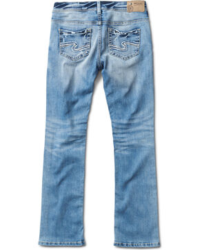 Silver Girls' Tammy Light Wash Boot Cut Jeans, Indigo, hi-res