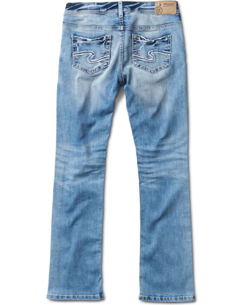 Silver Girls' Tammy Light Wash Boot Cut Jeans, Indigo, hi-res