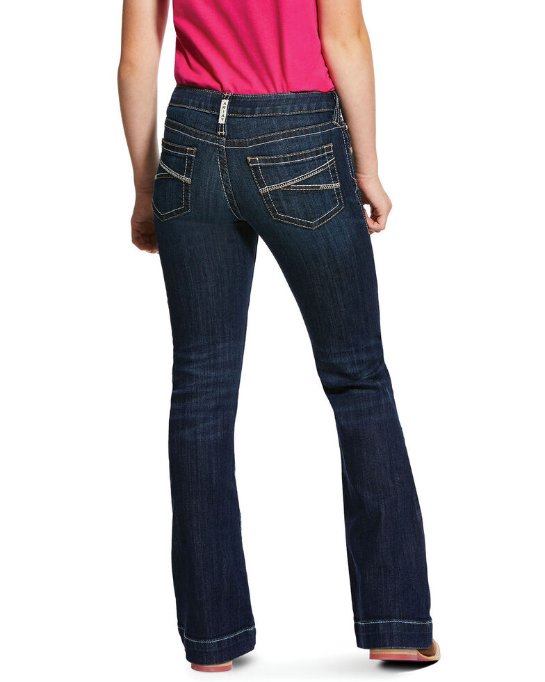 Ariat Girls' Dark Presley Trouser Jeans, Blue, hi-res