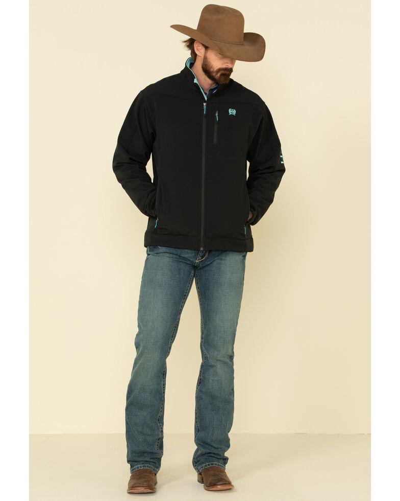 Cinch Men's Black Logo Solid Bonded Jacket , Black, hi-res