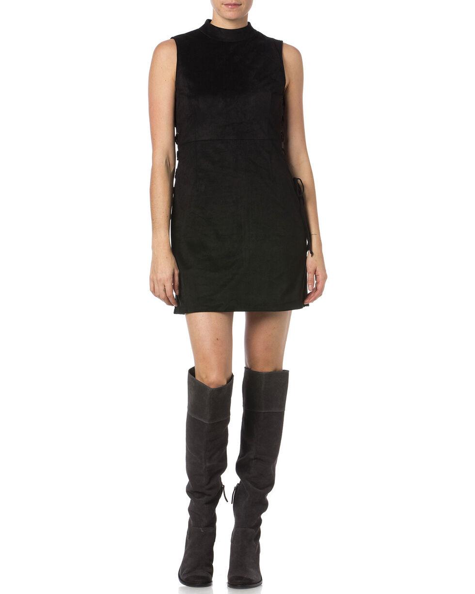 Miss Me Women's Lace-Up High Neck Dress, Black, hi-res