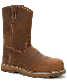 Muck Boots Men's Wellie Western Work Boots - Composite Toe, Brown, hi-res