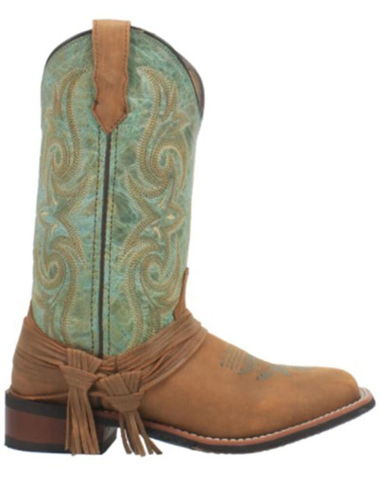 Laredo Women's Sadie Western Boots - Wide Square Toe, Tan, hi-res