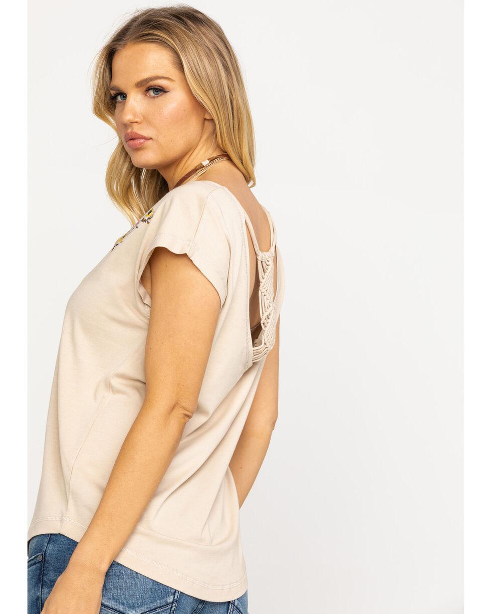 Ariat Women's Tan Tahos Short Sleeve Top, Beige/khaki, hi-res