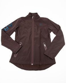 Ariat Women's Coffee Brown Exclusive Team Softshell Jacket , Purple, hi-res