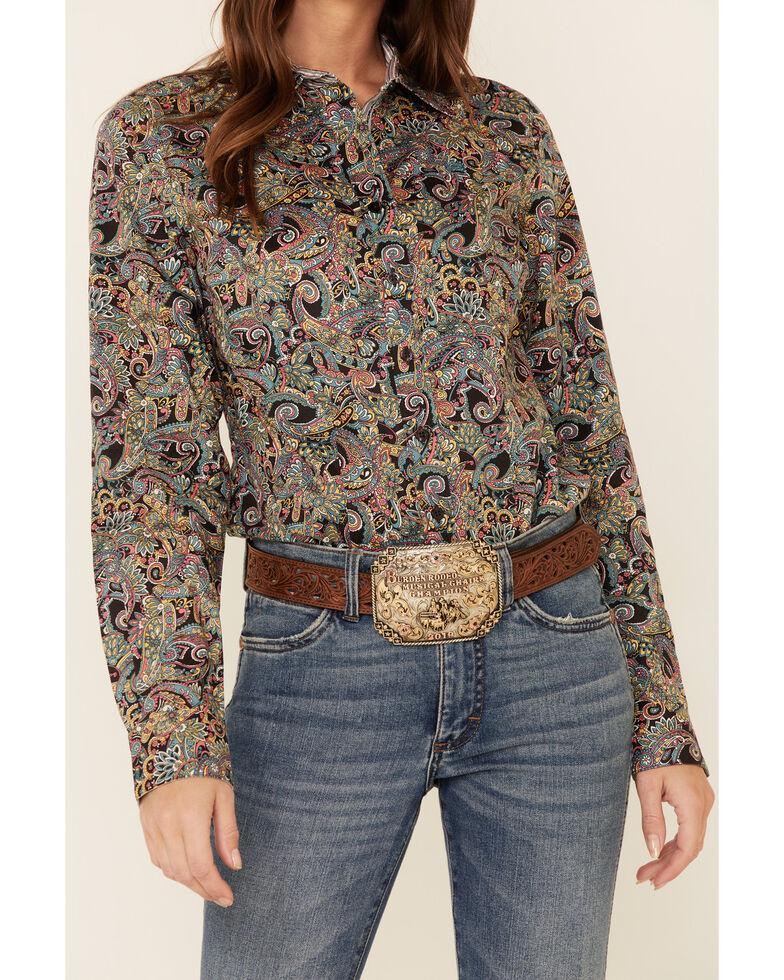 Cinch Women's Multi Paisley Print Long Sleeve Western Shirt , Multi, hi-res