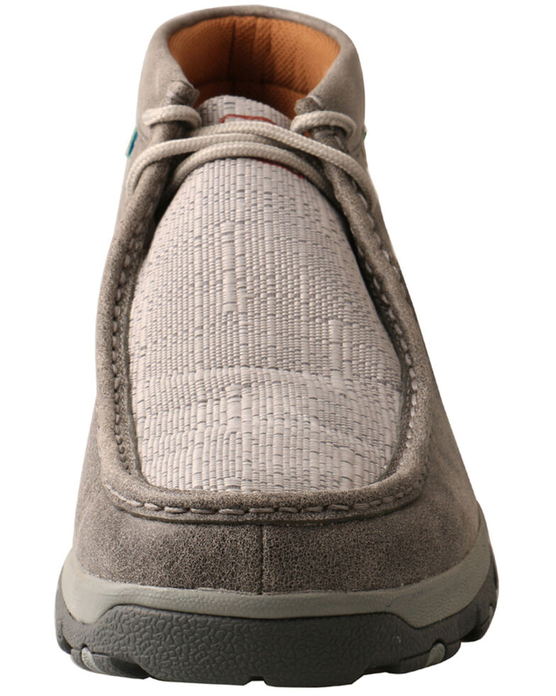 Twisted X Men's CellStretch Driving Shoes - Moc Toe, Grey, hi-res