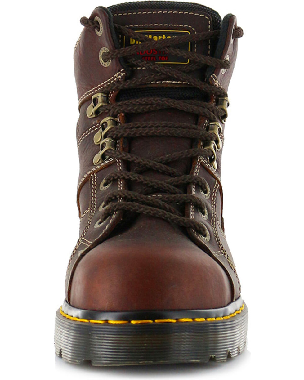 Dr. Martens Men's Ironbridge Ex Wide Work Boots - Steel Toe, Brown, hi-res