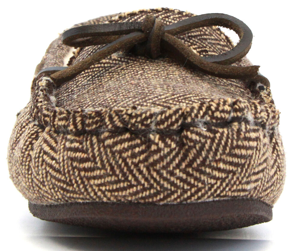 Lamo Footwear Women's Britain Moccasins, Cream/brown, hi-res