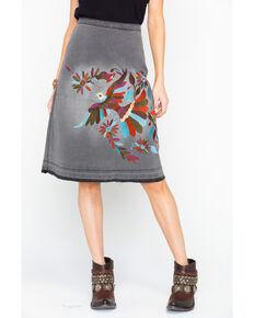 Angel Premium Women's Margarie Embroidered Skirt  , Heather Grey, hi-res