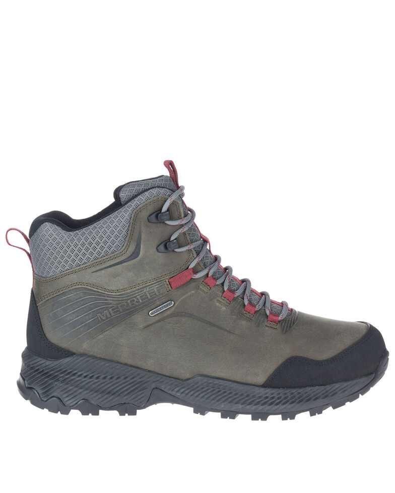 Merrell Men's Forestbound Waterproof Hiking Boots - Soft Toe, Grey, hi-res