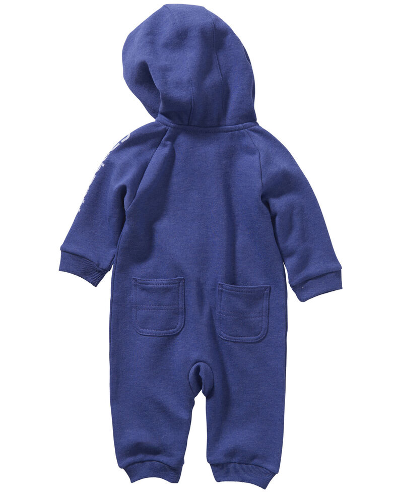 Carhartt Infant Girls' Purple Fleece Coveralls, Purple, hi-res