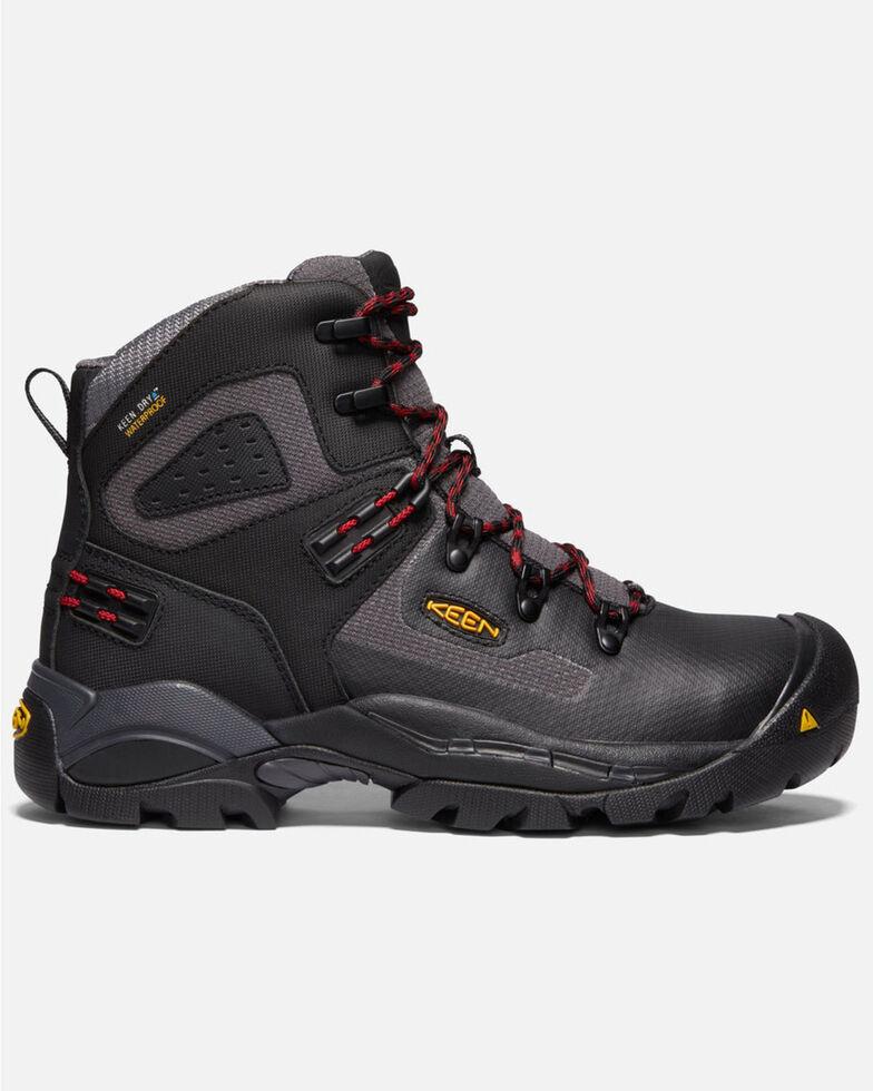 Keen Men's St. Paul Waterproof Work Boots - Carbon Toe, Black, hi-res