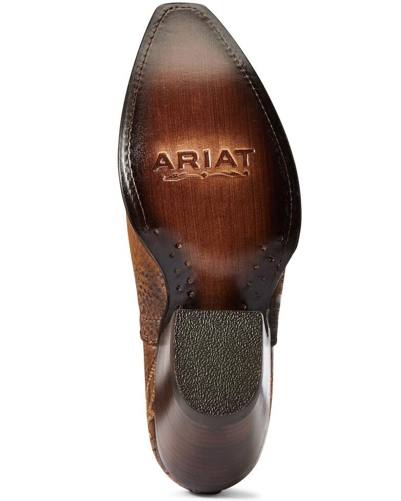 Ariat Women's Silver Dixon Fashion Booties - Snip Toe, Brown, hi-res