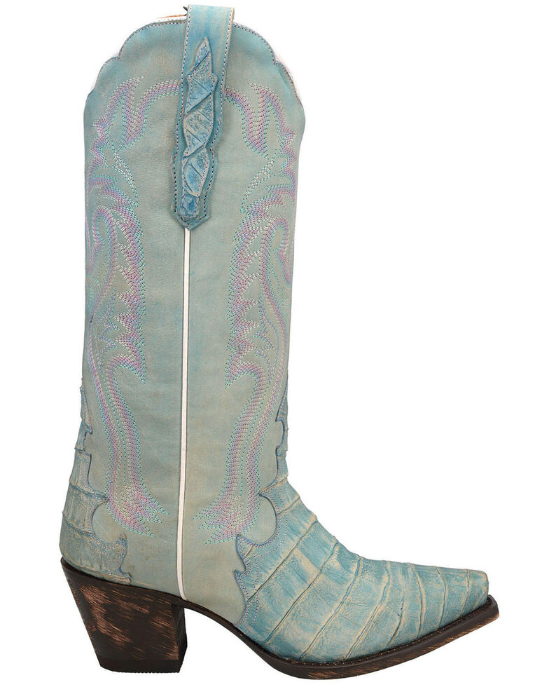 Dan Post Women's Remy Western Boots - Snip Toe, Blue, hi-res