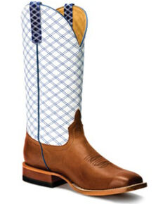 Horse Power Men's Sugared Brass Western Boots - Wide Square Toe, Tan, hi-res
