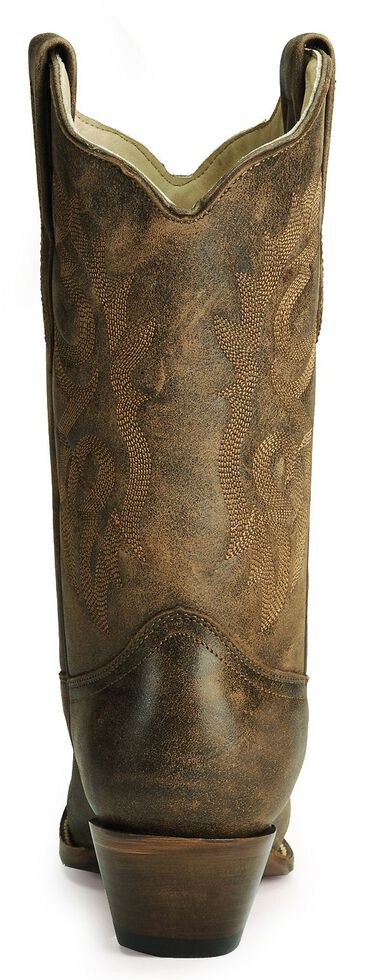 Corral Distressed Leather Western Cowgirl Boots - Snip Toe, Distressed, hi-res