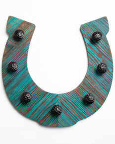 BB Ranch Teal Multi Hook Horseshoe, Teal, hi-res
