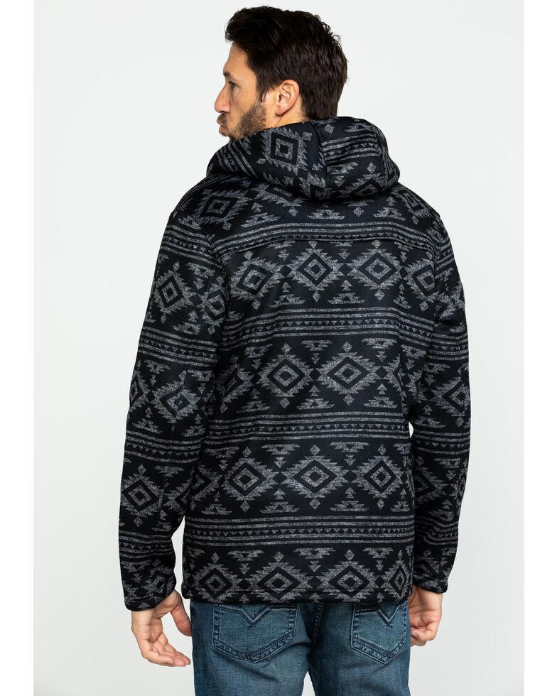 Moonshine Spirit Men's Mesa Aztec Print Sweater Bonded Fleece Jacket , Black, hi-res