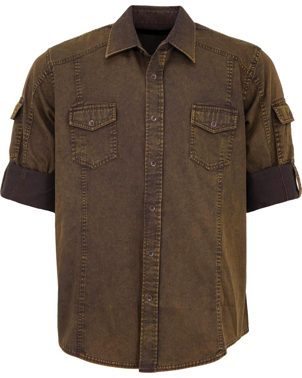 Outback Trading Co. Men's Brown Morris Shirt , Brown, hi-res