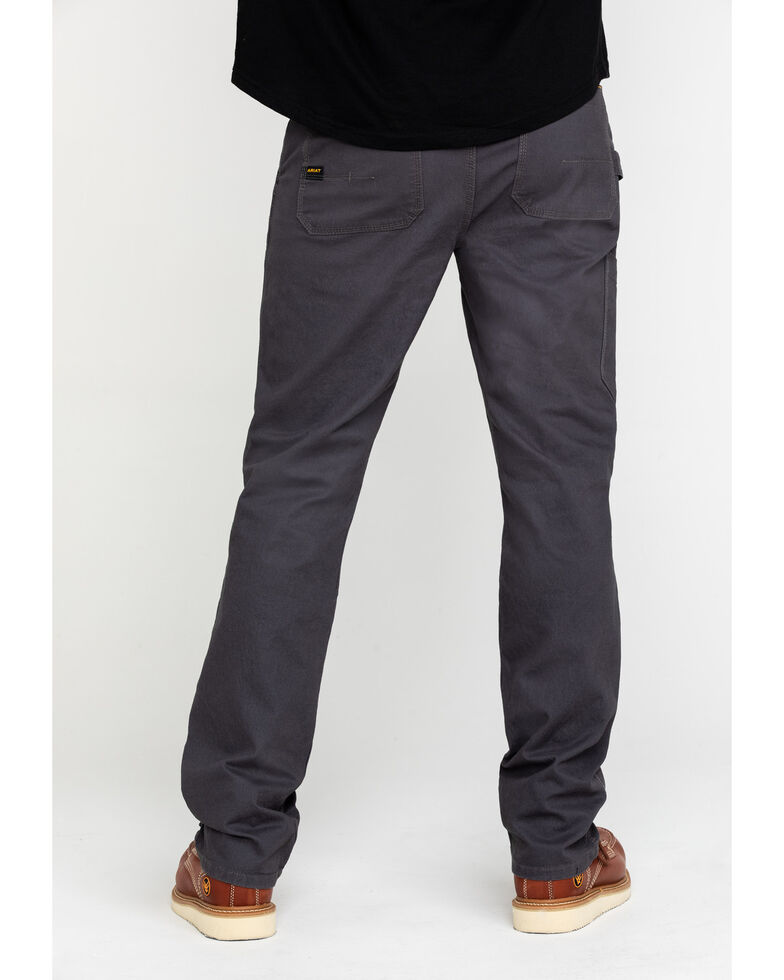 Ariat Men's Rebar M4 Made Tough Durastretch Double Front Straight Work Pants , Grey, hi-res