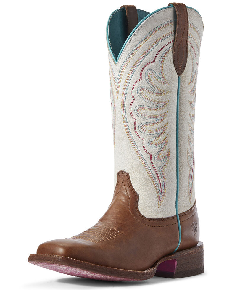 Ariat Women's Shiloh Red Western Boots - Wide Square Toe, Brown, hi-res