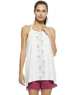 Angel Premium Women's White Daisy Tank Top , White, hi-res
