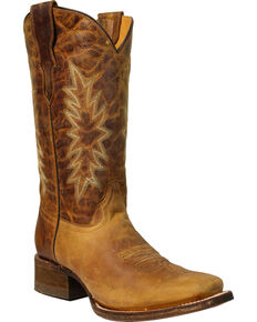 Corral Boys' Vintage Honey Cowgirl Boots - Square Toe, Honey, hi-res