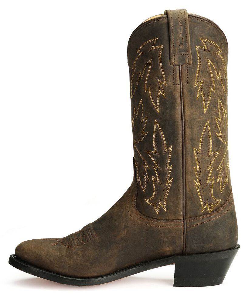 Old West Apache Leather Cowgirl Boots, Apache Tan, hi-res