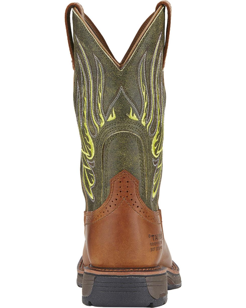 Ariat Men's Workhog Mesteno Waterproof Work Boots - Composite Toe, Rust, hi-res