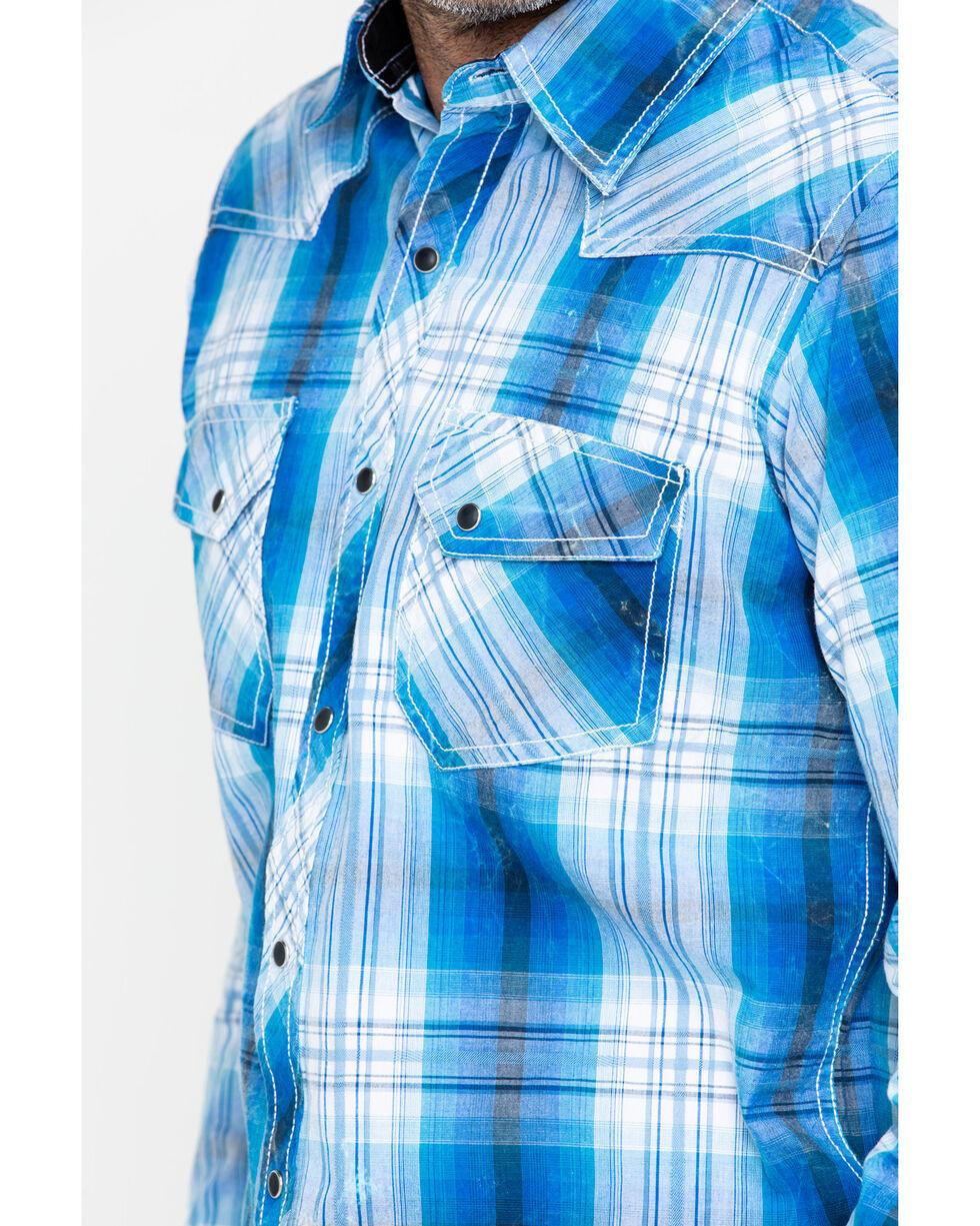 Ely Cattleman Men's 1878 Young Men's Plaid Shirt , Blue, hi-res