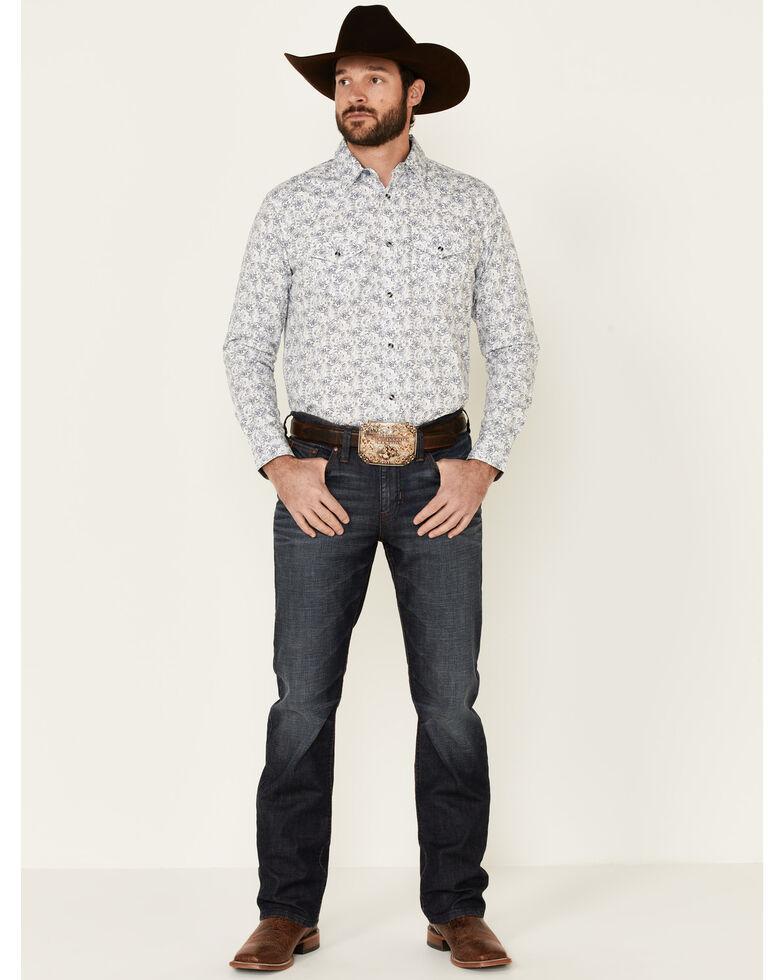 Cody James Men's Painted Paisley Print Long Sleeve Snap Western Shirt - Tall , Ivory, hi-res