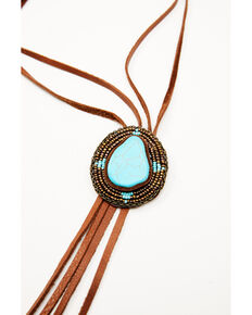 Idyllwind Women's Spot The Turquoise Bolo Tie Necklace, Brown, hi-res