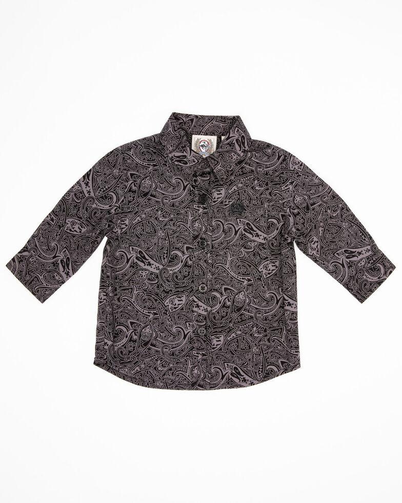 Cinch Infant Boys' Black Paisley Print Long Sleeve Western Shirt , Black, hi-res