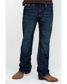 Cinch Men's Ian Med Rinse Slim Boot Jeans , Indigo, hi-res